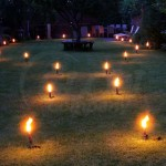 Simple, But Effective Garden Candles