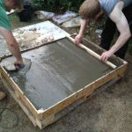 Low Pallet and Concrete Base