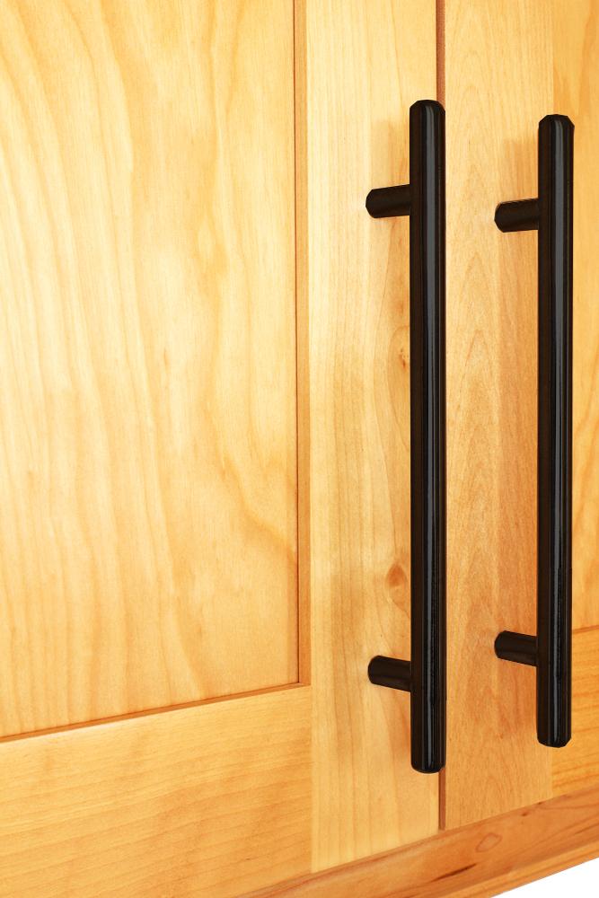 Matte black cupboard handles