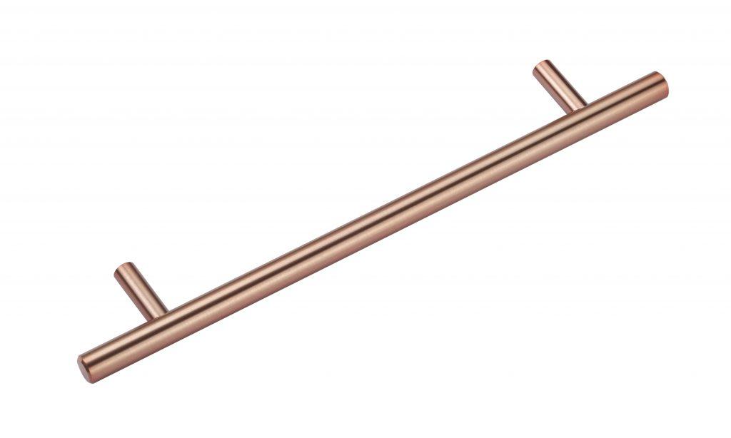 Polished copper handles